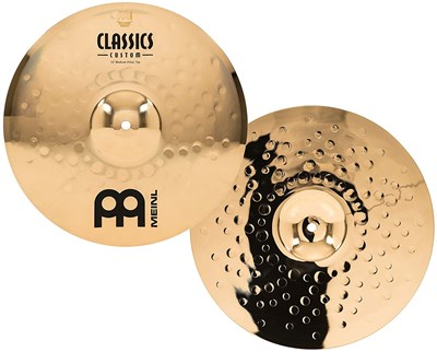 היי הט Meinl Cymbals CC14MH-B Classics Custom 14-Inch Brilliant Medium Hi Hat
