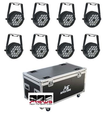 Apextone SET 8 LIGHT 18X10FT+CASE פנסי לד