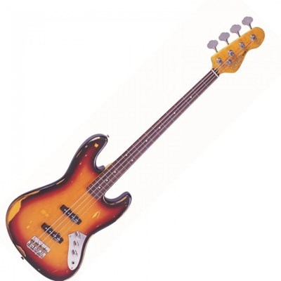 גיטרה בס בגימור של Sunset Sunburst V74 Fretless Vintage