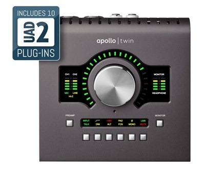 כרטיס קול + מעבד APOLLO TWIN QUAD MKII Universal Audio